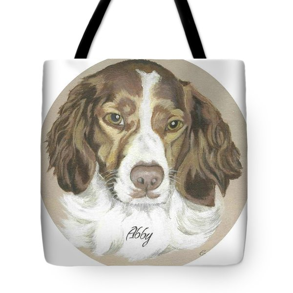 Miss Abby Tote Bag by Carol Wisniewski
