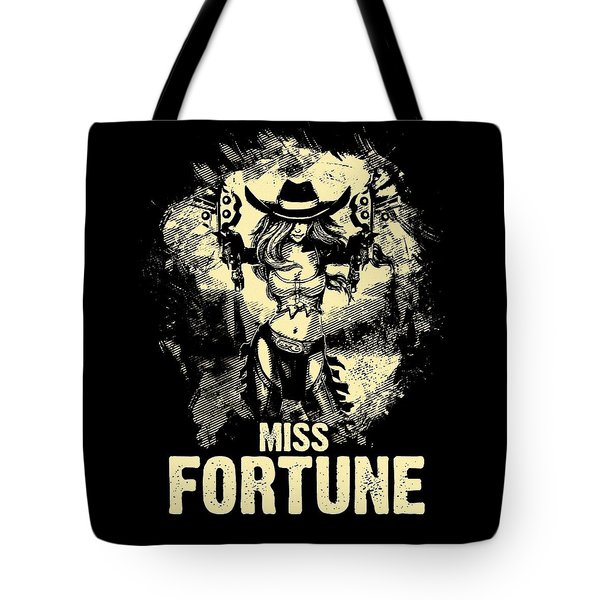 Miss Fortune - Vintage Comic Line Art Style Tote Bag