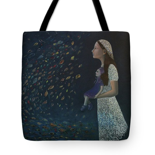 Miss Frost Watching The Autumn Dance Tote Bag by Tone Aanderaa