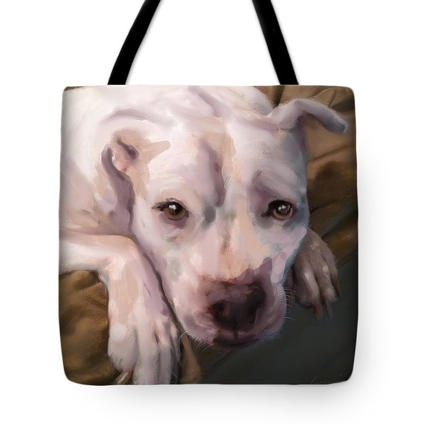 Tote Bag featuring the painting Miss Jade by Thomas Lupari
