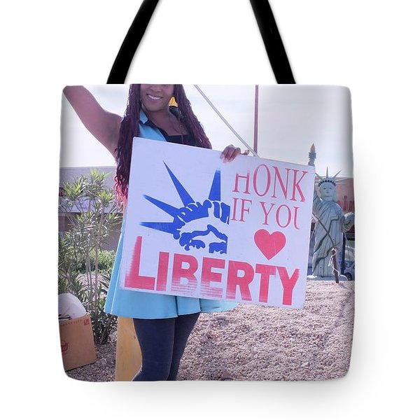Miss Liberty Tote Bag