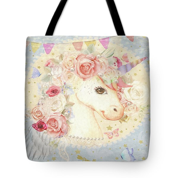 Miss Lolly Unicorn Tote Bag