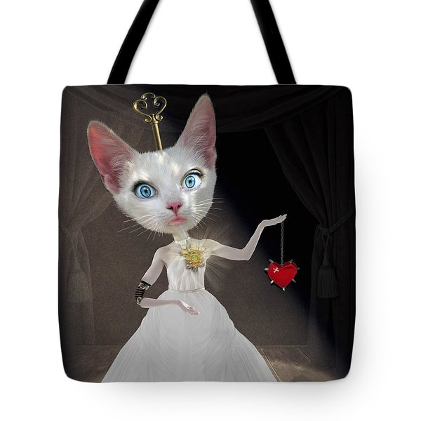 Miss Kitty Tote Bag by Juli Scalzi