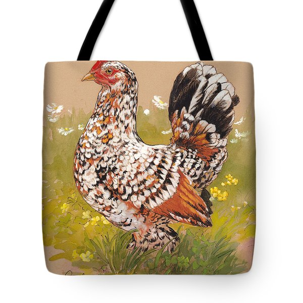 Miss Millie Fleur Tote Bag by Tracie Thompson