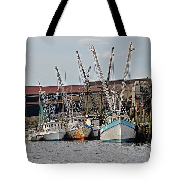 Tote Bag featuring the photograph Miss Nichole's Shrimping Company by Linda Brown