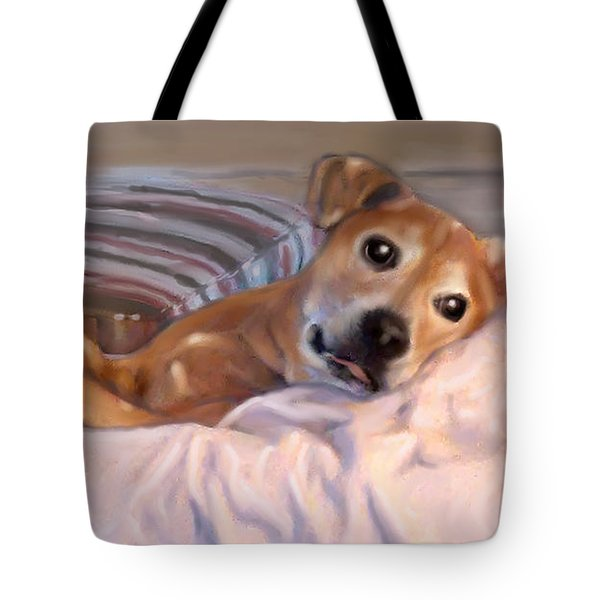 Tote Bag featuring the painting Miss Penny by Thomas Lupari