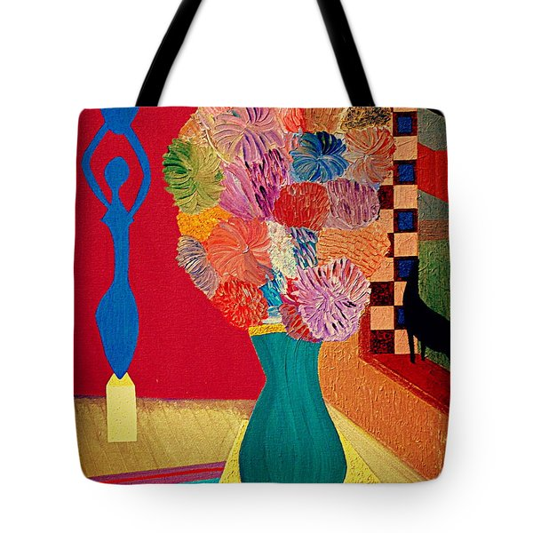 Tote Bag featuring the painting Missing Henri by Bill OConnor