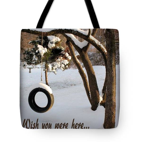 Missing You Tote Bag by Kristin Elmquist