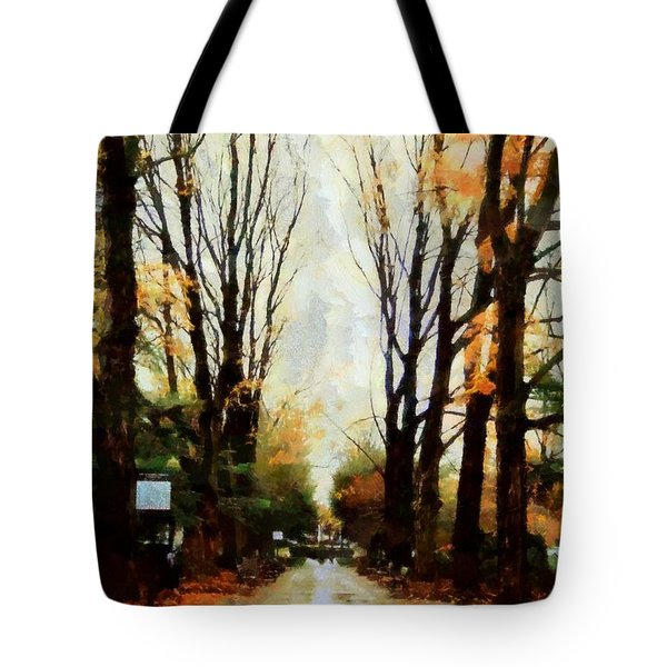 Tote Bag featuring the photograph Missing You - Rainy Day Park by Janine Riley