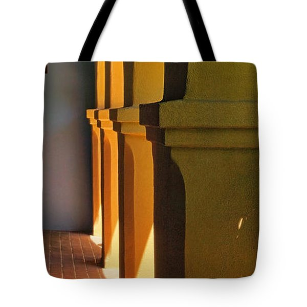 Mission Arches Pano Tote Bag