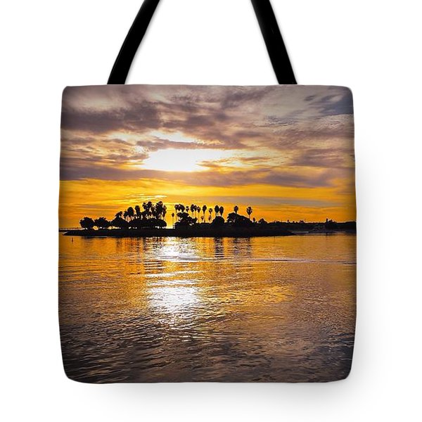 Mission Bay Purple Sunset By Jasna Gopic Tote Bag