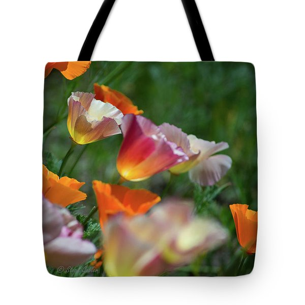 Mission Bell Poppies Tote Bag