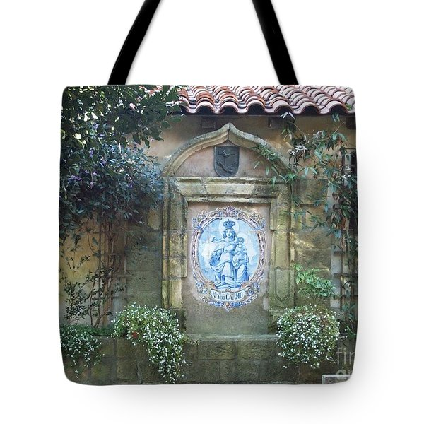 Mission Carmel Court Yard Tote Bag