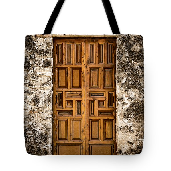 Mission Concepcion Door #3 Tote Bag