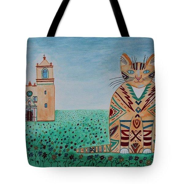Mission Concepcion Cat Tote Bag