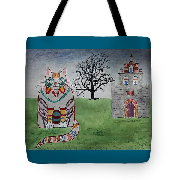 Mission Espada Cat Tote Bag
