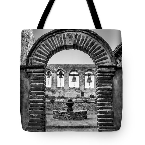 Mission Gate And Bells #3 Tote Bag