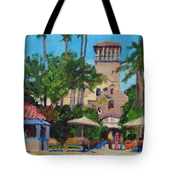 Mission Inn On A Sunny Day Tote Bag