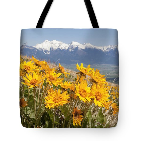 Mission Mountain Balsam Blooms Tote Bag by Jack Bell