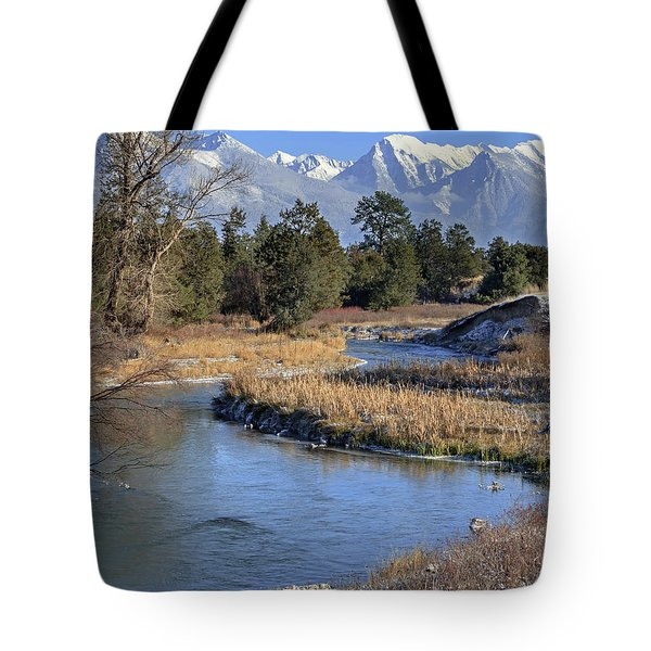 Mission Mountains Tote Bag