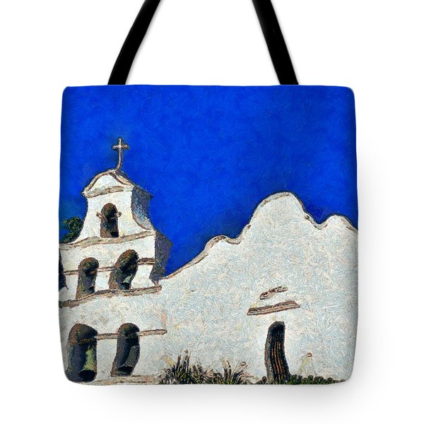 Mission San Diego De Alcala Tote Bag by Christine Till