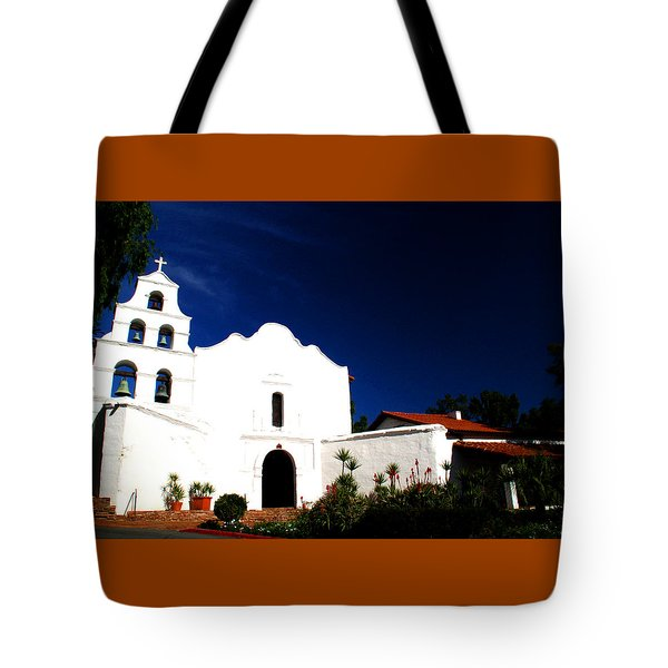 Tote Bag featuring the photograph Mission San Diego De Alcala by Christopher Woods