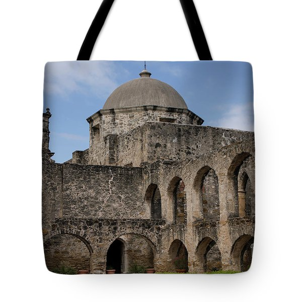Tote Bag featuring the photograph Mission San Jose - 1218 by Teresa Wilson