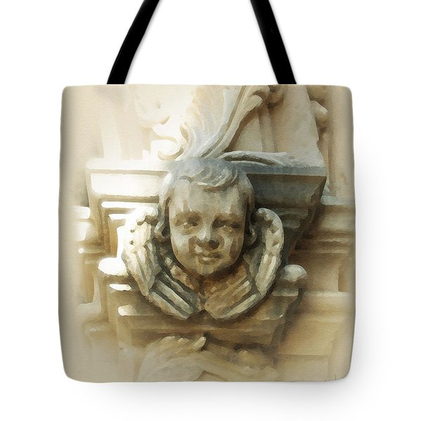 Mission San Jose Angel Tote Bag by Cliff Hawley