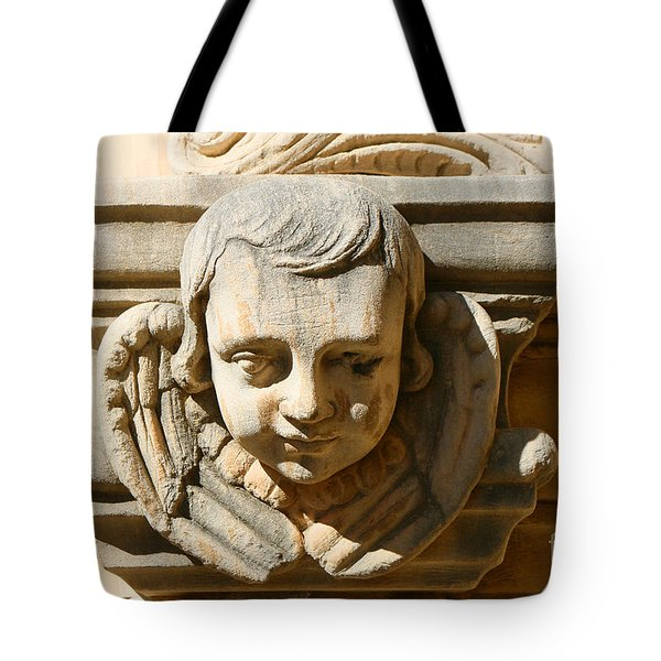Tote Bag featuring the photograph Mission San Jose Angel by Jeanette French
