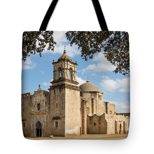 Tote Bag featuring the photograph Mission San Jose by Mary Jo Allen