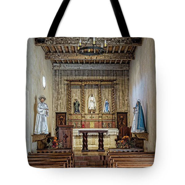 Tote Bag featuring the photograph Mission San Juan Capistrano Sanctuary - San Antonio by Stephen Stookey
