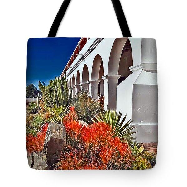 Mission San Luis Rey Garden Tote Bag