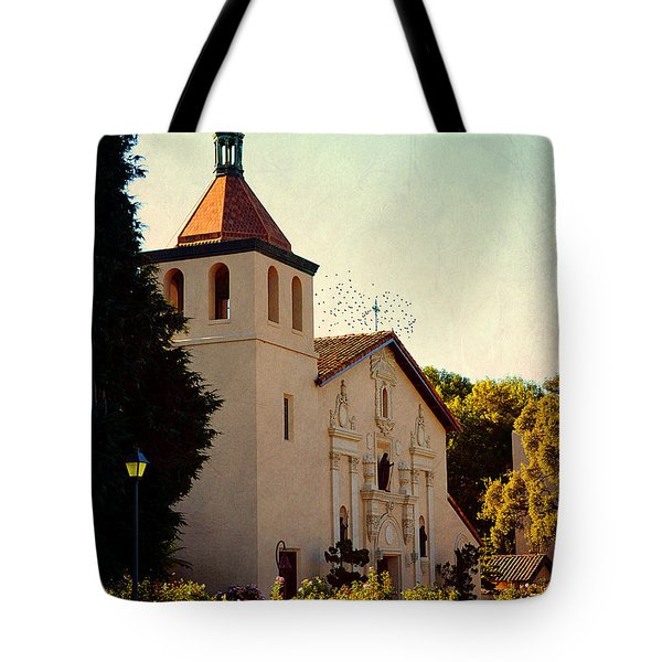 Tote Bag featuring the photograph Mission Santa Clara - California by Glenn McCarthy Art and Photography