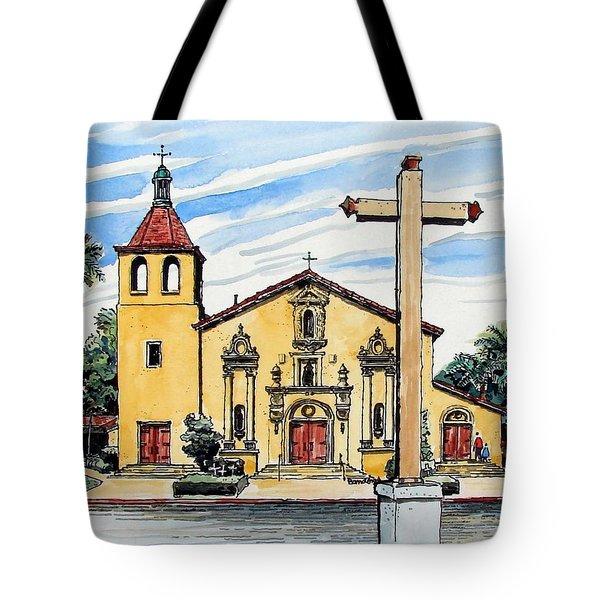 Mission Santa Clara De Asis Tote Bag by Terry Banderas