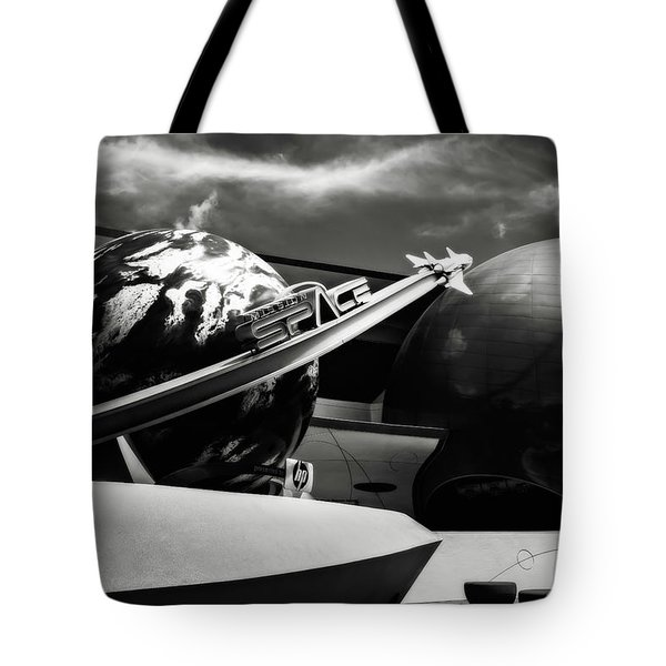 Mission Space Black And White Tote Bag by Eduard Moldoveanu