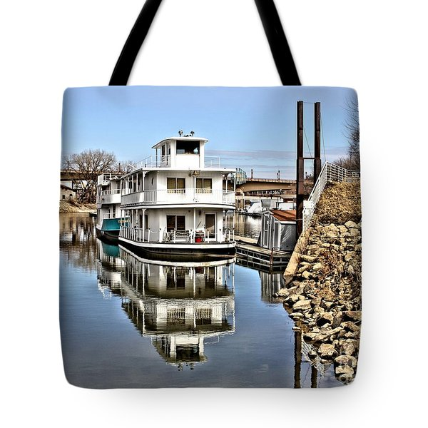 Mississippi Houseboat Tote Bag