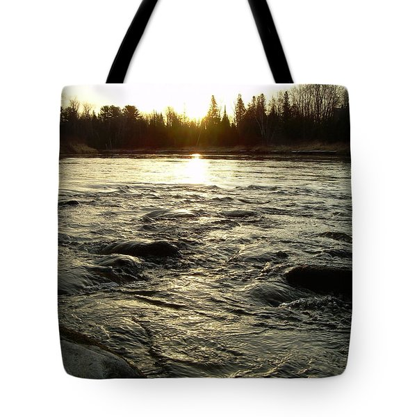 Tote Bag featuring the photograph Mississippi River Dawn Reflection by Kent Lorentzen