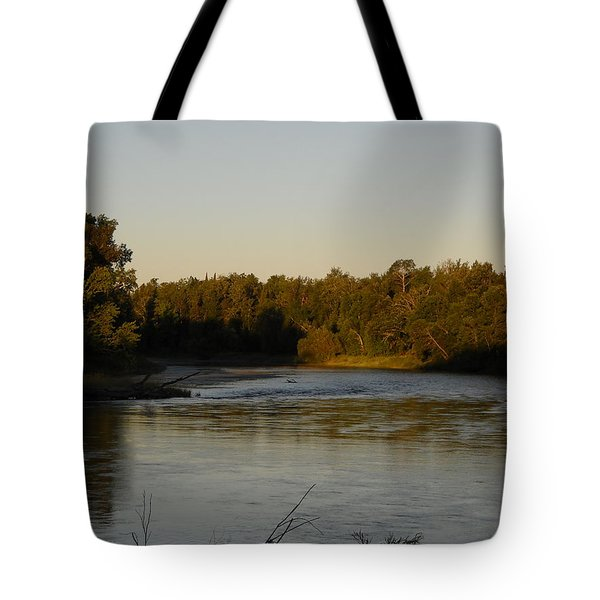 Mississippi River Morning Glow Tote Bag