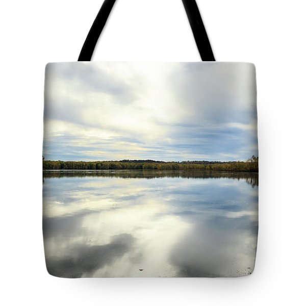 Mississippi River Panorama Tote Bag