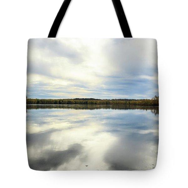 Mississippi River Panorama Tote Bag by Joni Eskridge
