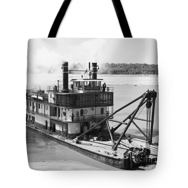 Tote Bag featuring the photograph Mississippi River Snag Boat by Granger