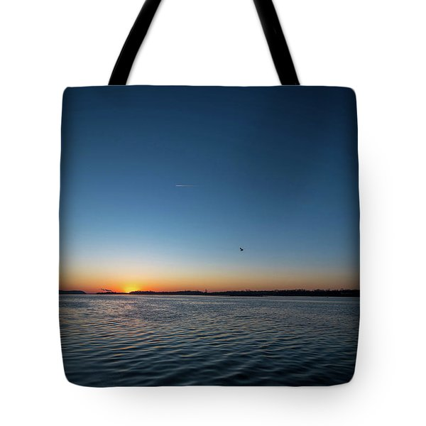 Mississippi River Sunrise Tote Bag