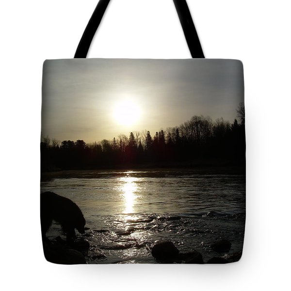 Tote Bag featuring the photograph Mississippi River Sunrise Reflection by Kent Lorentzen