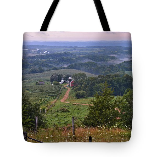 Mississippi River Valley 2 Tote Bag by Bonfire Photography