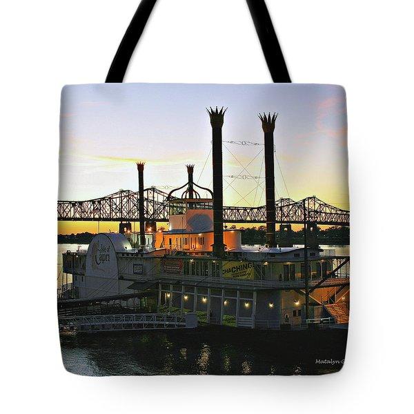 Mississippi Riverboat Sunset Tote Bag