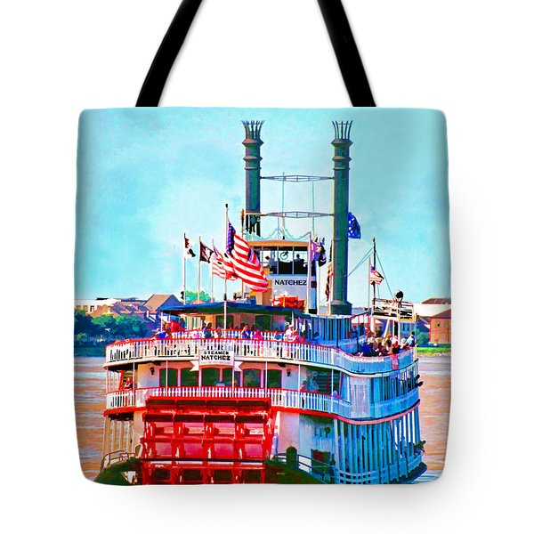 Mississippi Steamboat Tote Bag