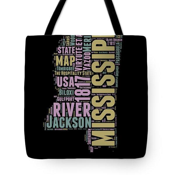 Mississippi Word Cloud 1 Tote Bag