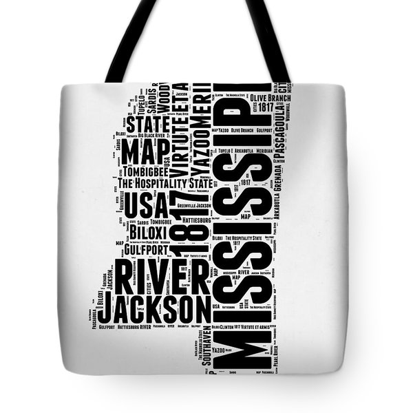 Mississippi Word Cloud 2 Tote Bag
