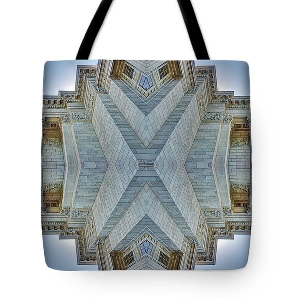 Tote Bag featuring the photograph Missouri Capitol - Abstract by Nikolyn McDonald