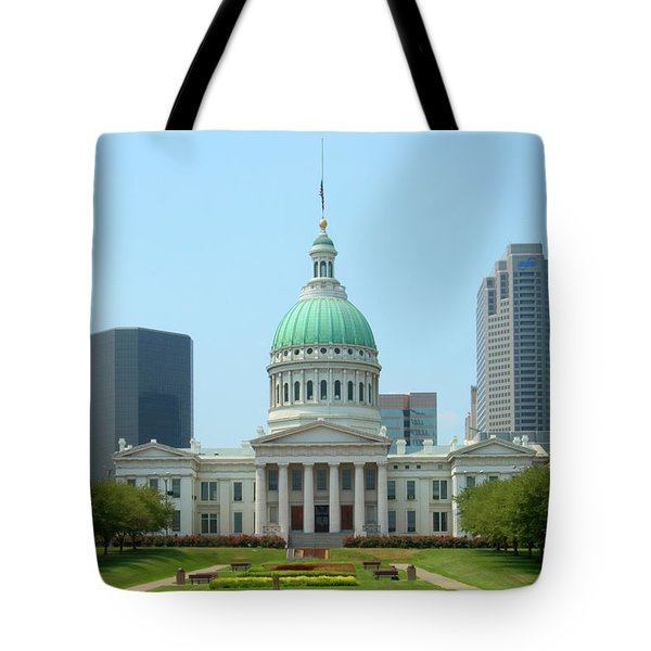 Tote Bag featuring the photograph Missouri State Capitol Building by Mike McGlothlen